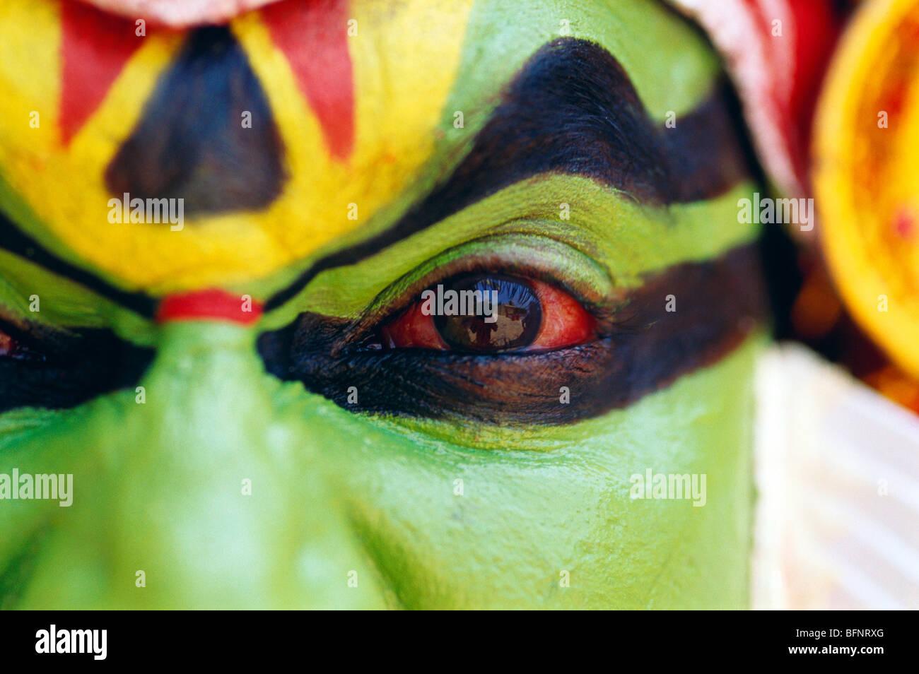 RSC 60564: Kathakali Tänzer; Kerala; Indien Herr #306 Stockfoto
