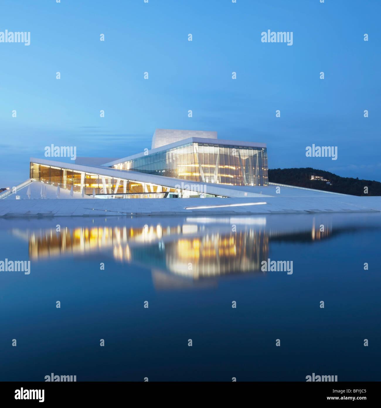 Oslo Opernhaus Stockbild