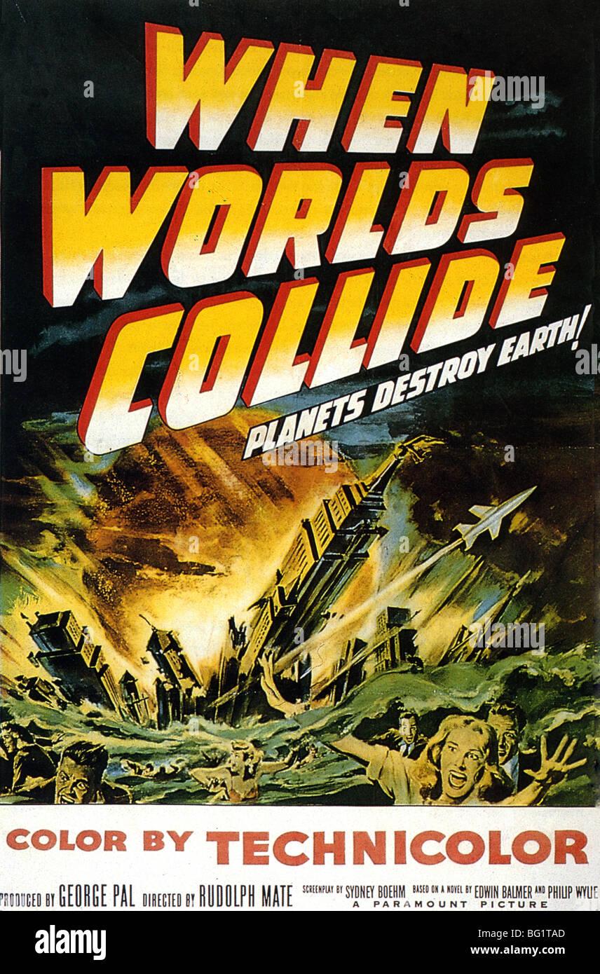 WHEN WORLDS COLLIDE Plakat für Paramount Film 1951 Stockbild