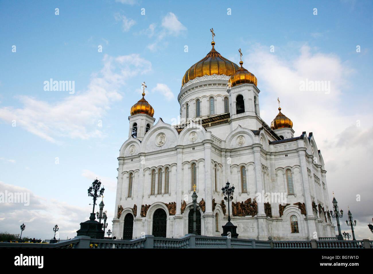 Kathedrale von Christus dem Erlöser, Moskau, Russland, Europa Stockbild
