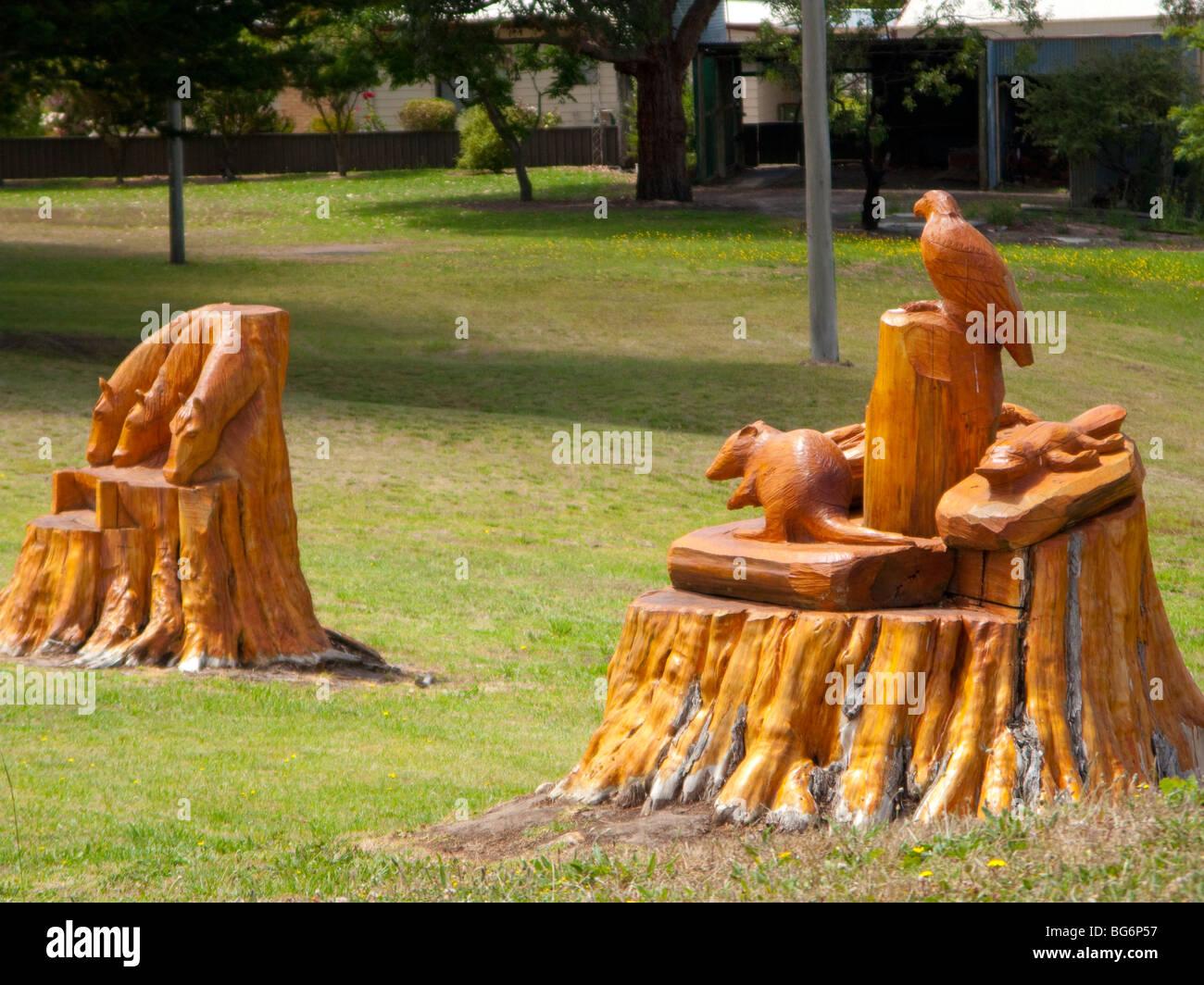 märchenhafte figuren kettensäge kunst bei darmoor victoria