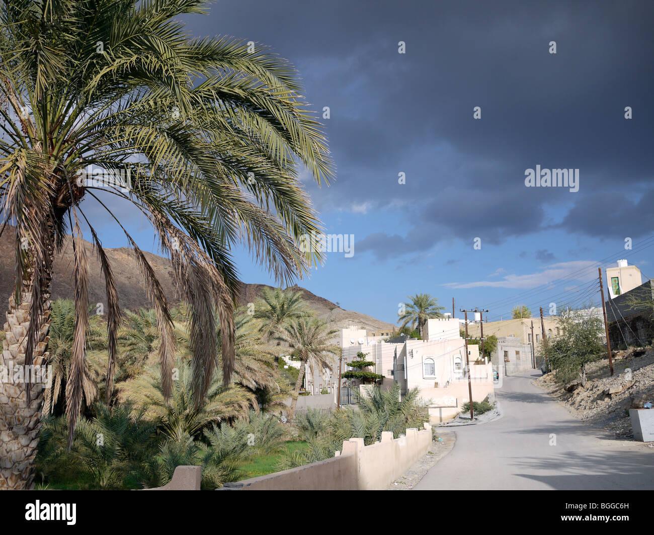 Straßenbild in Oman Dorf Stockbild
