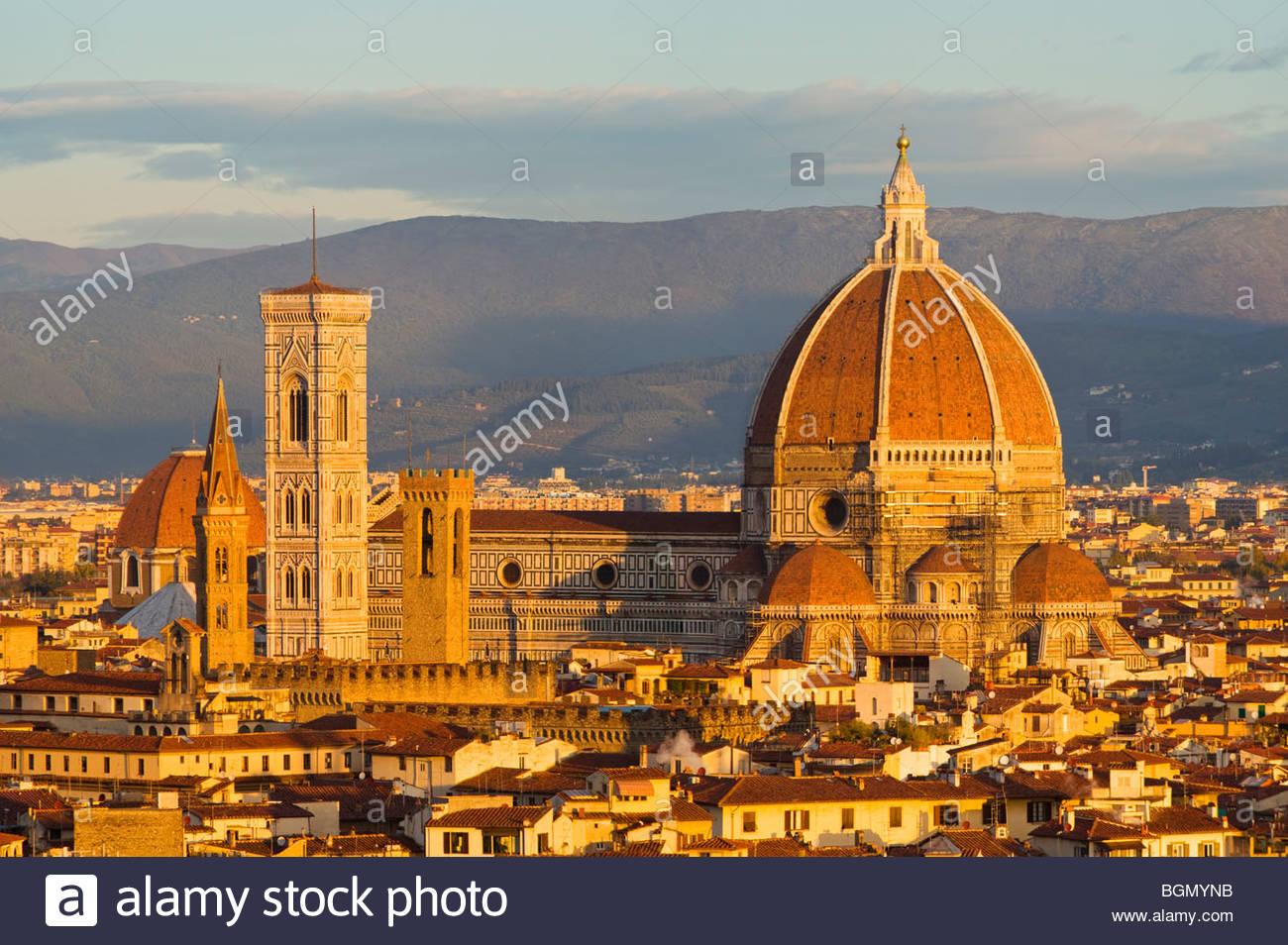Der Dom (Basilica di Santa Maria del Fiore), Florenz, Toskana, Italien. Stockbild