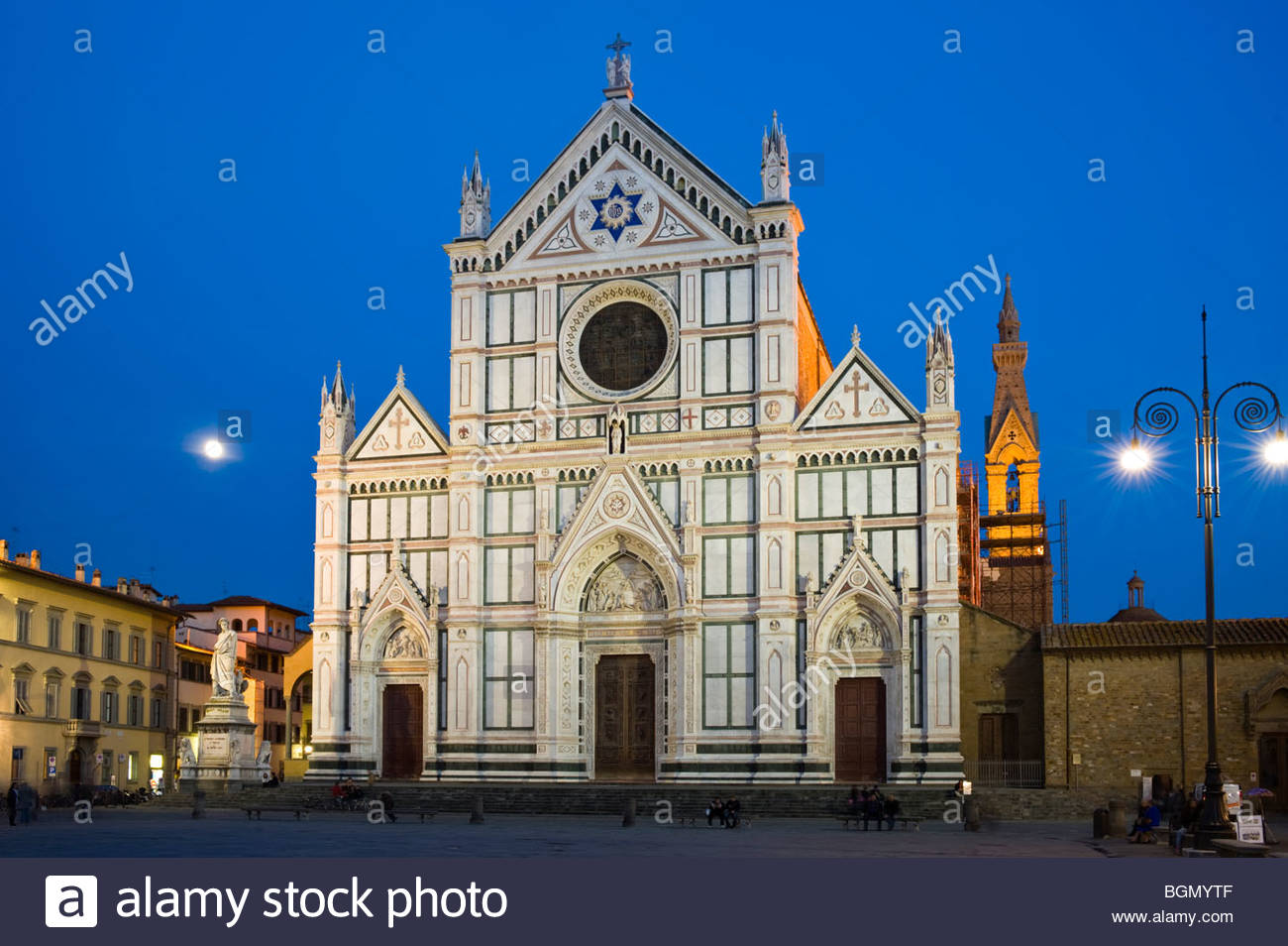 Basilica di Santa Croce, Florenz, Italien. Stockbild