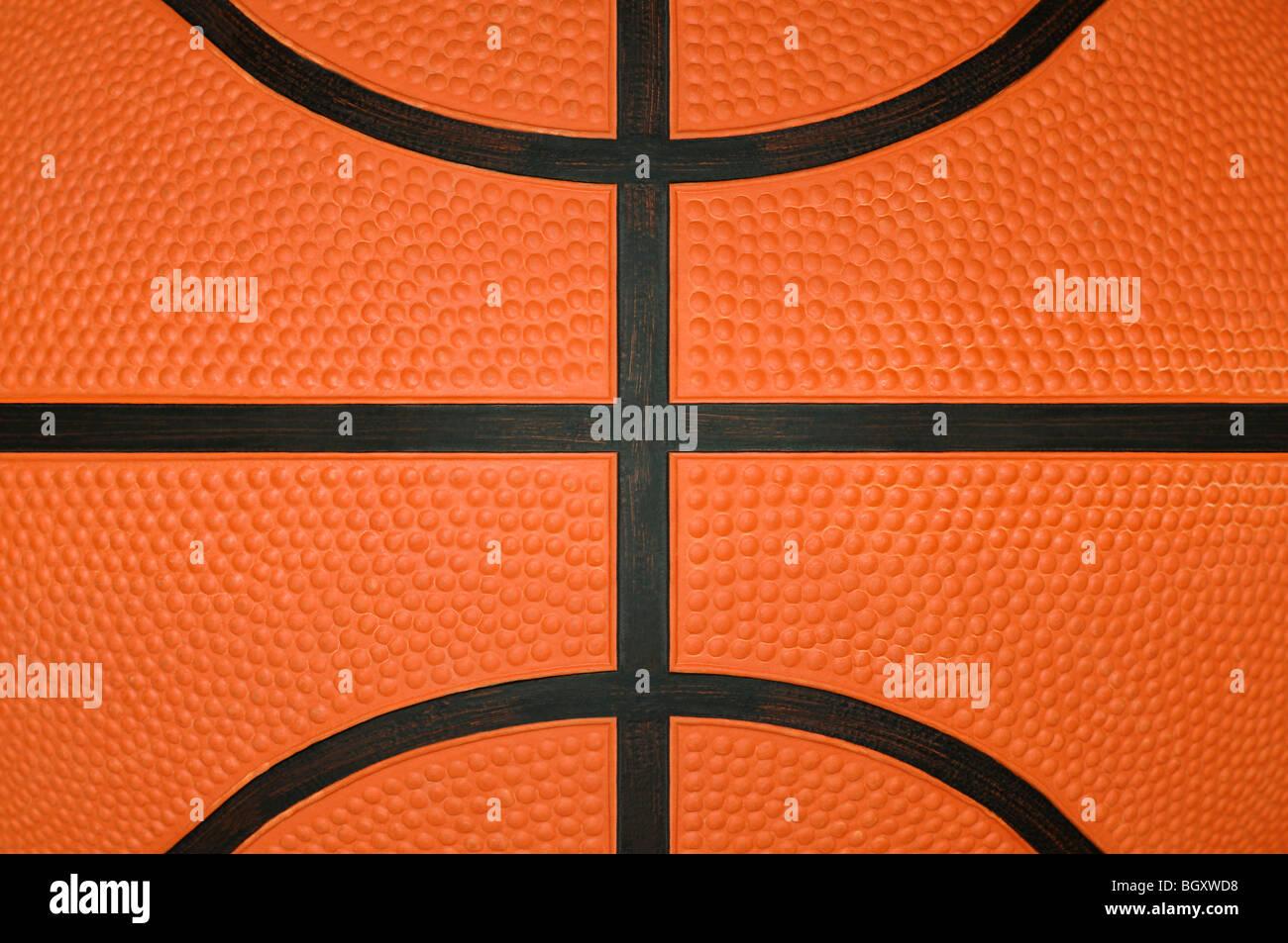 Basketball hautnah Stockbild
