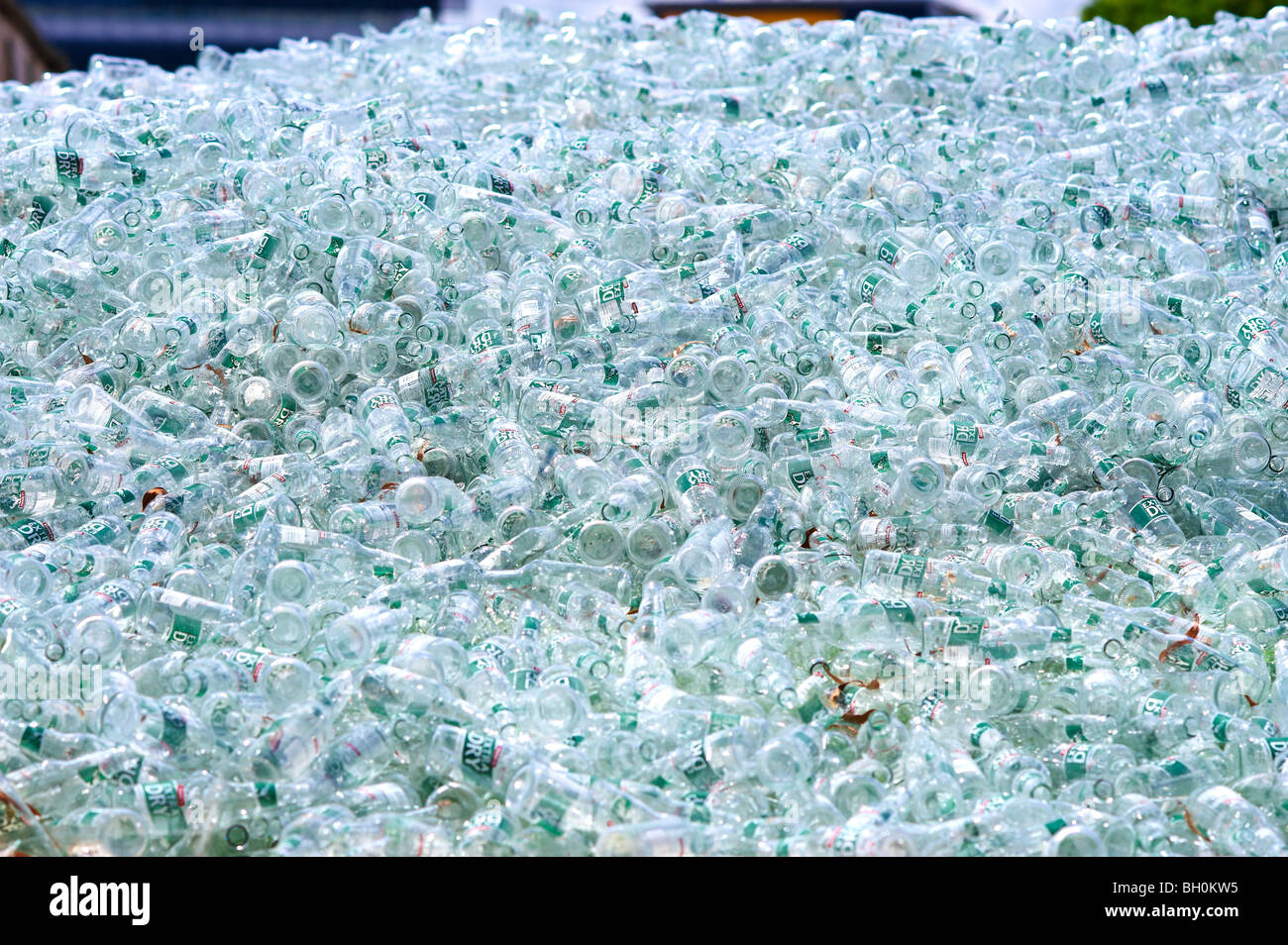Glas-recycling-Anlage Stockbild