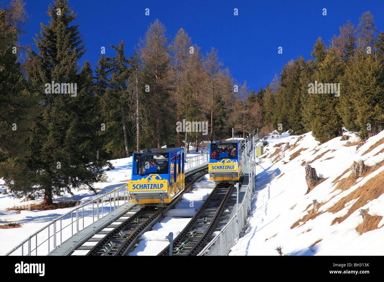 Schatzalp Bahn Bahnhof Davos, Schweiz Stockbild