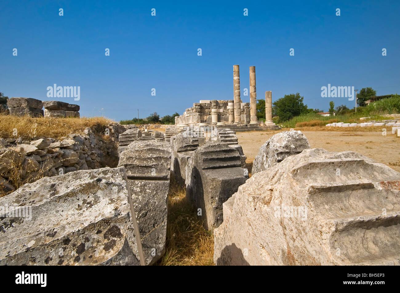Alte Ruinen von Letoon, Türkei Stockbild