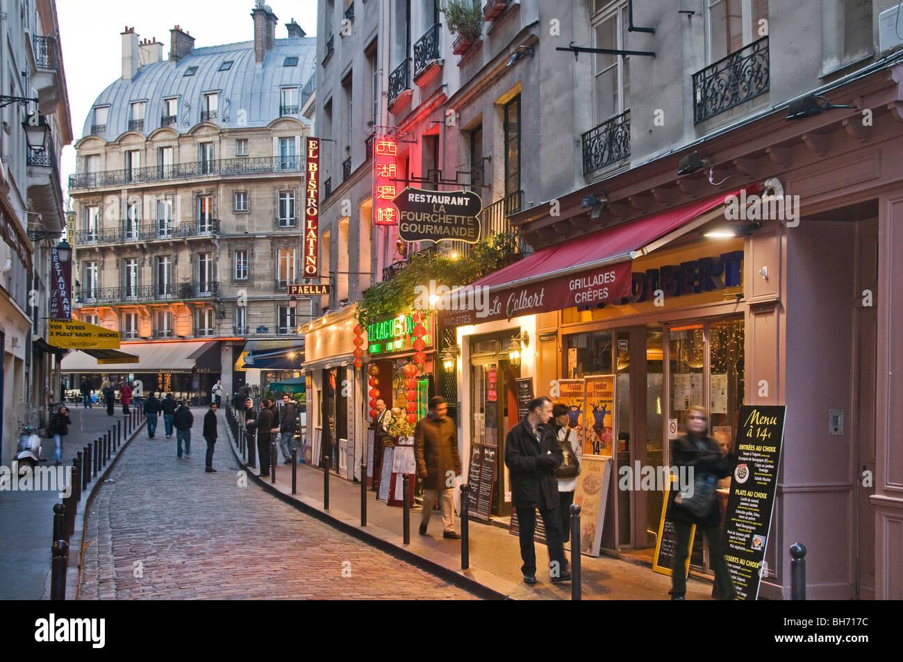 Quartier Latin Paris Frankreich Stockbild