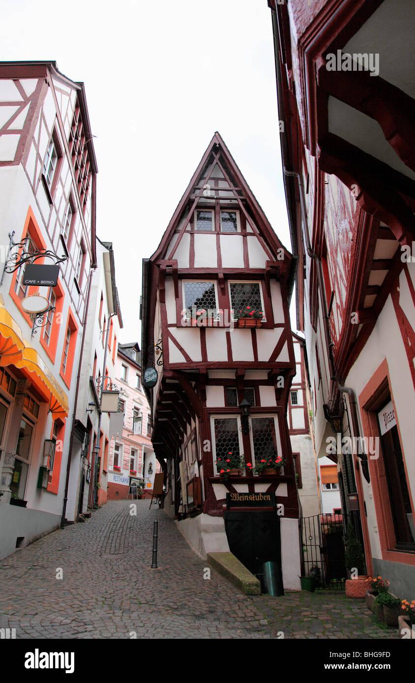 Eine traditionelle deutsche Stadt Stockbild