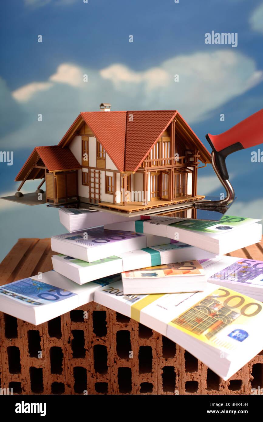 Hypothek Finanzierung Geld Stockbild