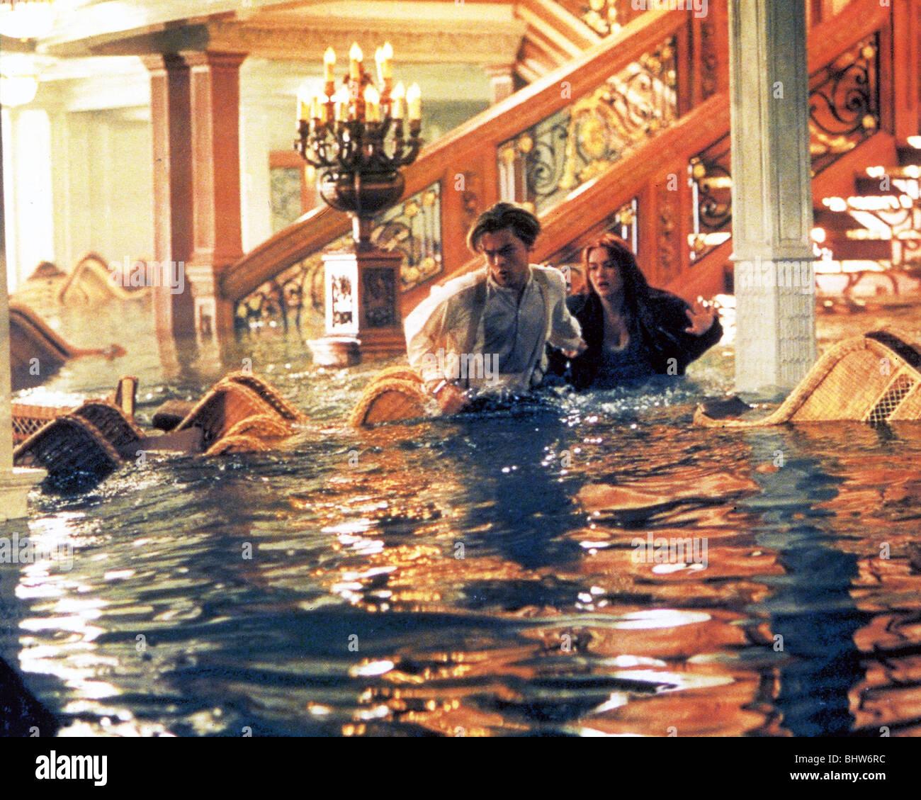 TITANIC - 1997 TCF Film mit Leonardo DiCaprio und Kate Winslet Stockbild