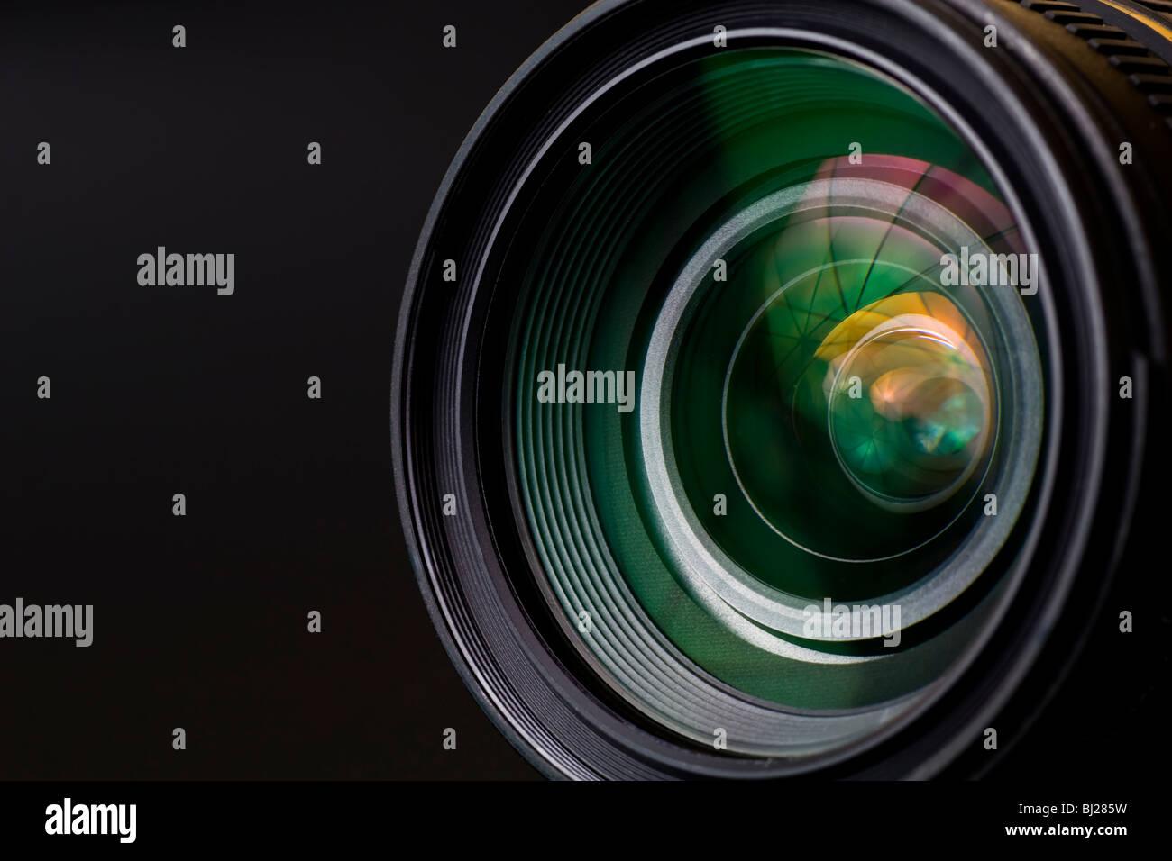 Ziel mit Objektiv Reflexionen. Im Studio gedreht. Stockbild