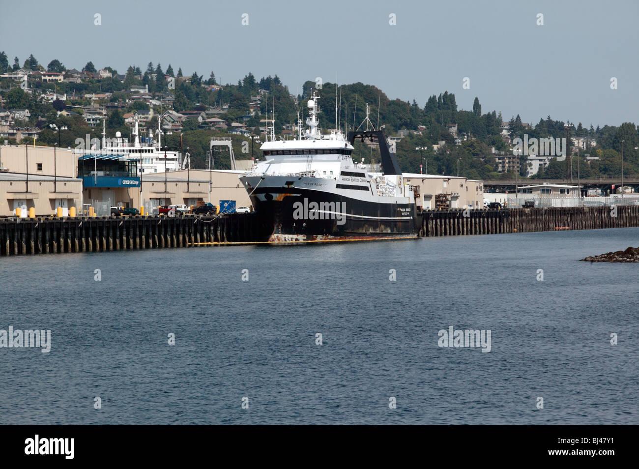 Ocean Rover amerikanischen Seafoods Fabrik Trawler Stockbild