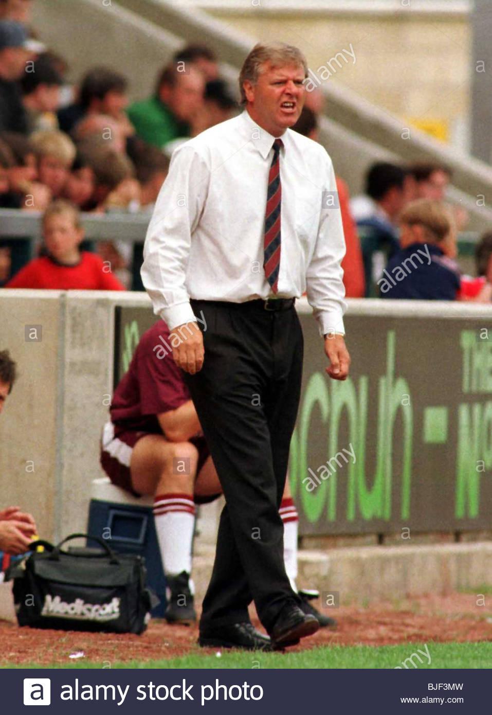 Saison 1997/1998 Herzen Manager Jim Jefferies. Stockbild