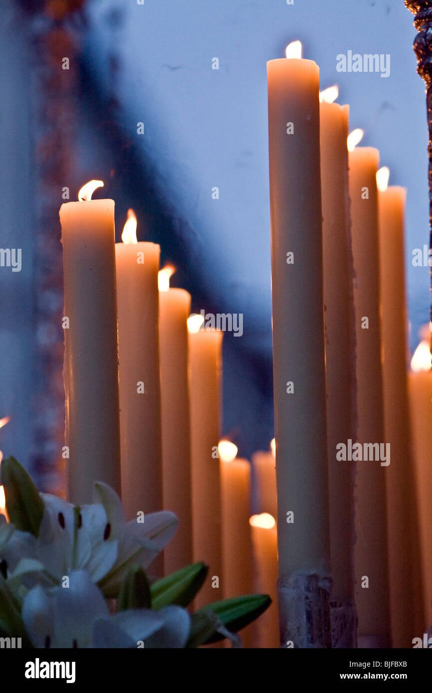 Kerzen der Karwoche Stockbild