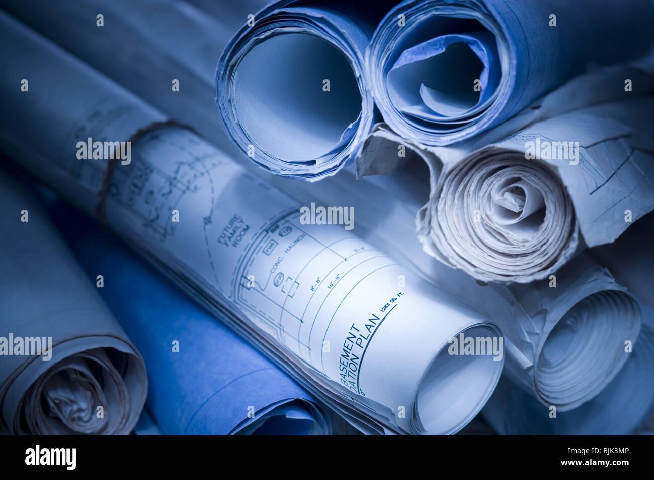 Blueprints Stockbild