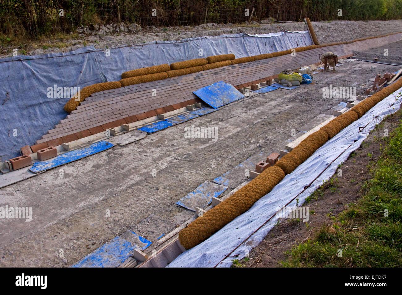 Wendover Arm Canal Wiederaufbau British Waterways Chilterns Stockbild