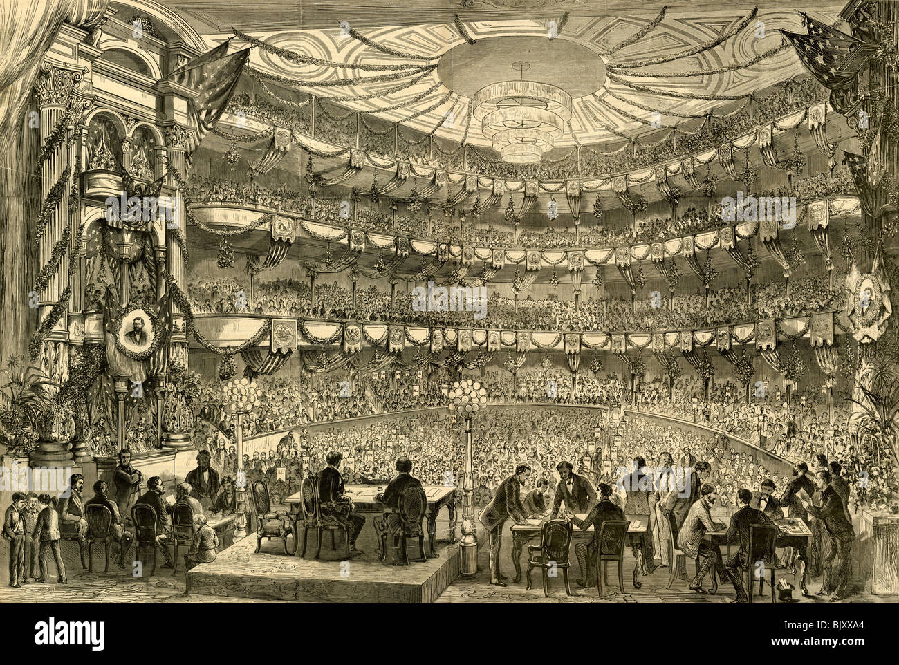 """Philadelphia ? der republikanischen Nationalkonvent in Sitzung in der Academy of Music, 5. Juni 1872"" Stockbild"