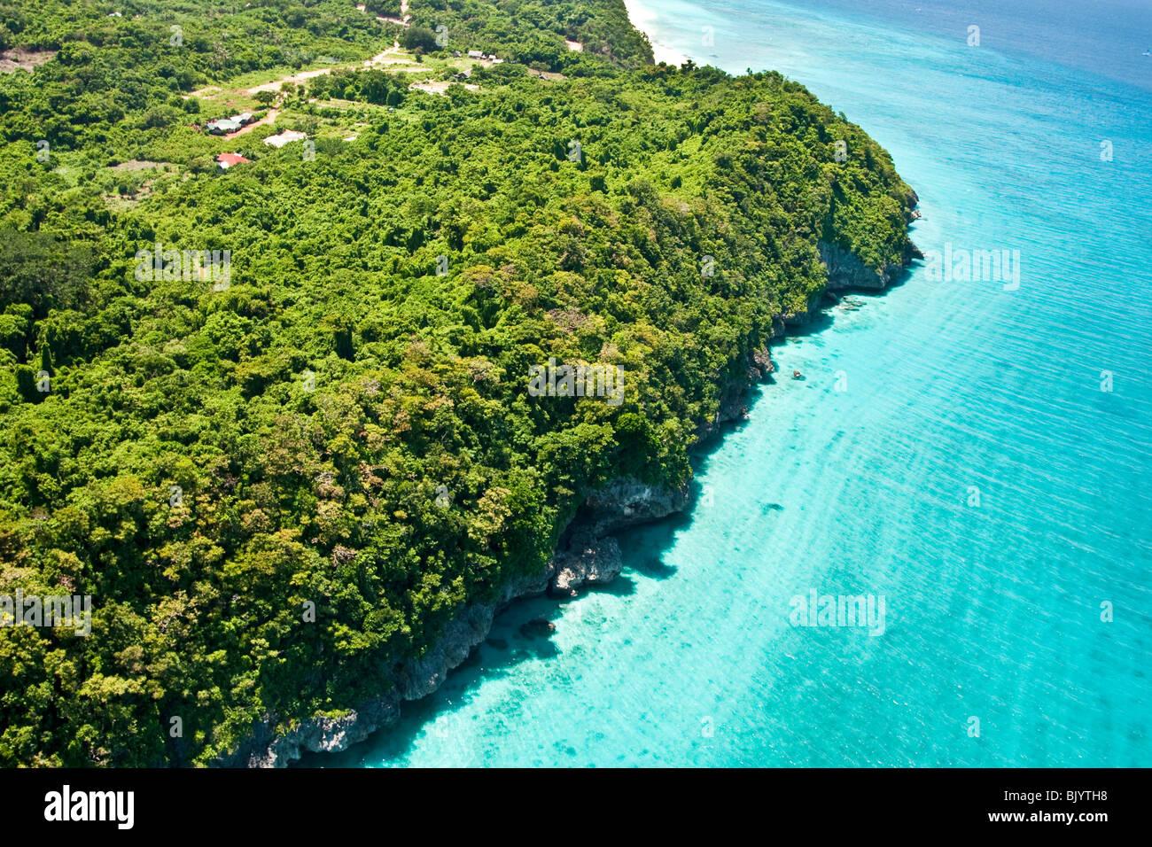 Luftaufnahme von Boracay Inseln in Zentral-Philippinen Stockbild