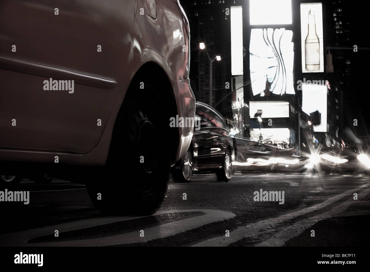 Autos in Times Square in New york Stockbild