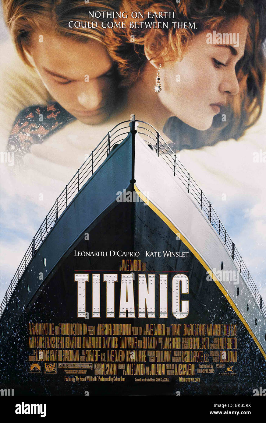 Titanic Jahr: 1997 Regie: James Cameron Kate Winslet, Leonardo DiCaprio Movie Poster (USA) Stockbild