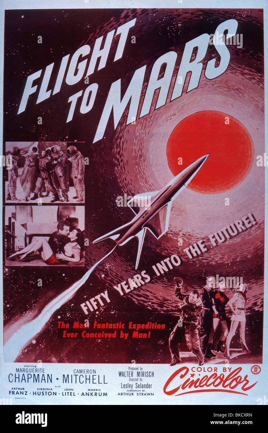 FLUG ZUM MARS-1951 POSTER Stockbild