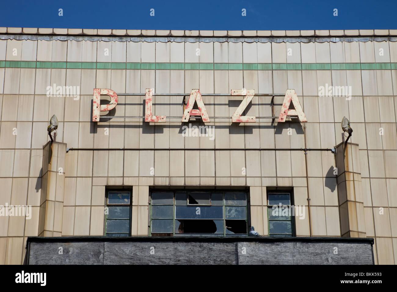 Verlassenen Kino in Port Talbot, Wales Stockbild