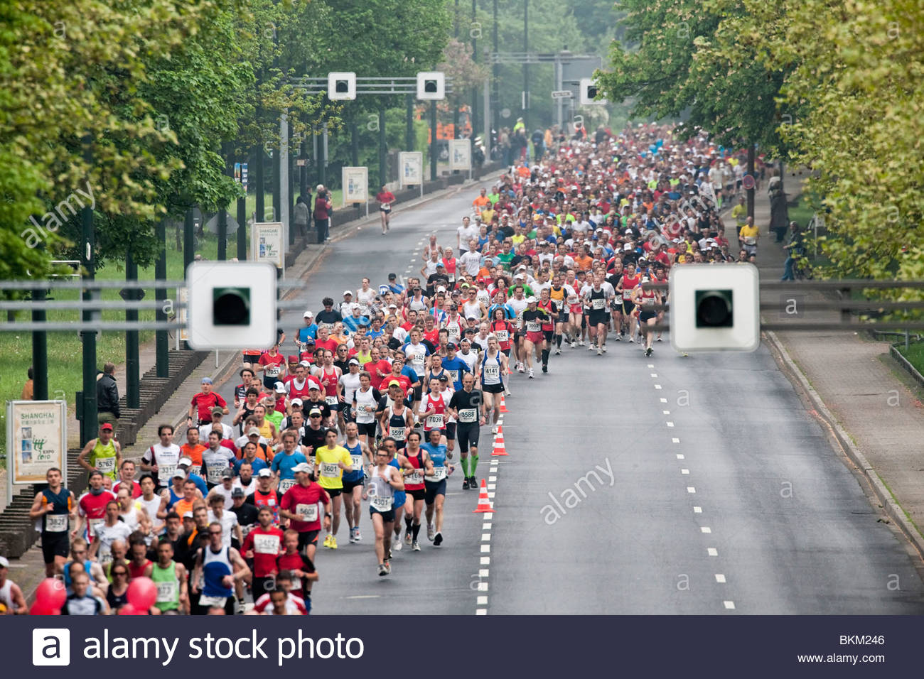 Marathonläufer Stockbild