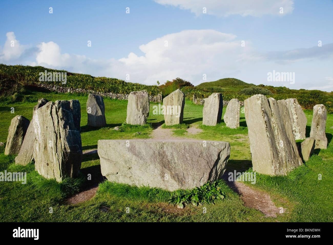 Glandore, Cork, Irland; Ein Steinkreis Stockbild