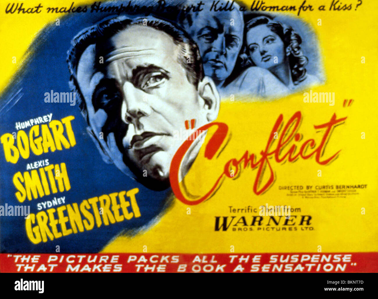 KONFLIKT (1945) CURTIS BERNHARDT (DIR), PLAKAT CFLT 003 Stockbild