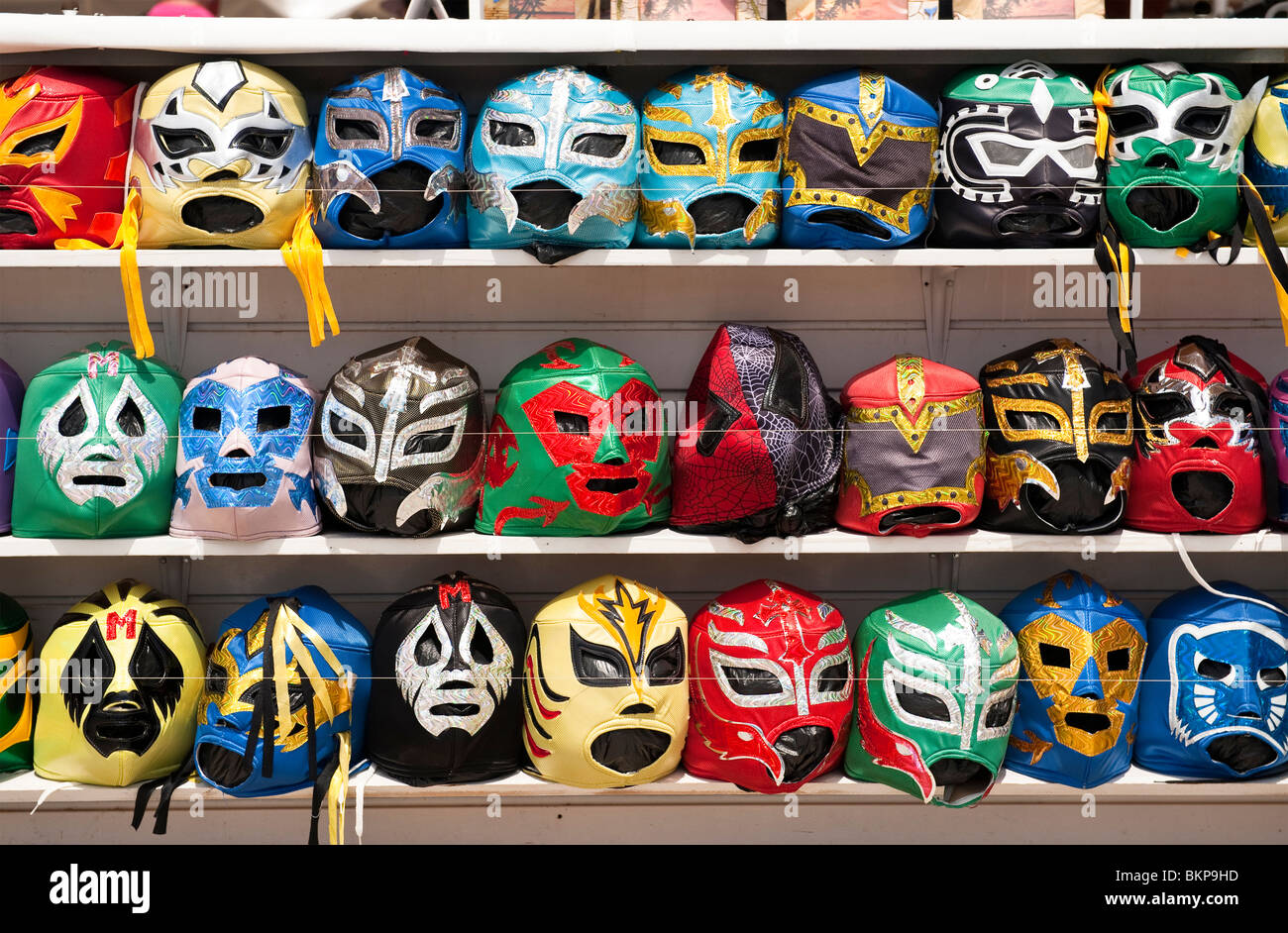 mexican wrestling masks stockfotos mexican wrestling. Black Bedroom Furniture Sets. Home Design Ideas