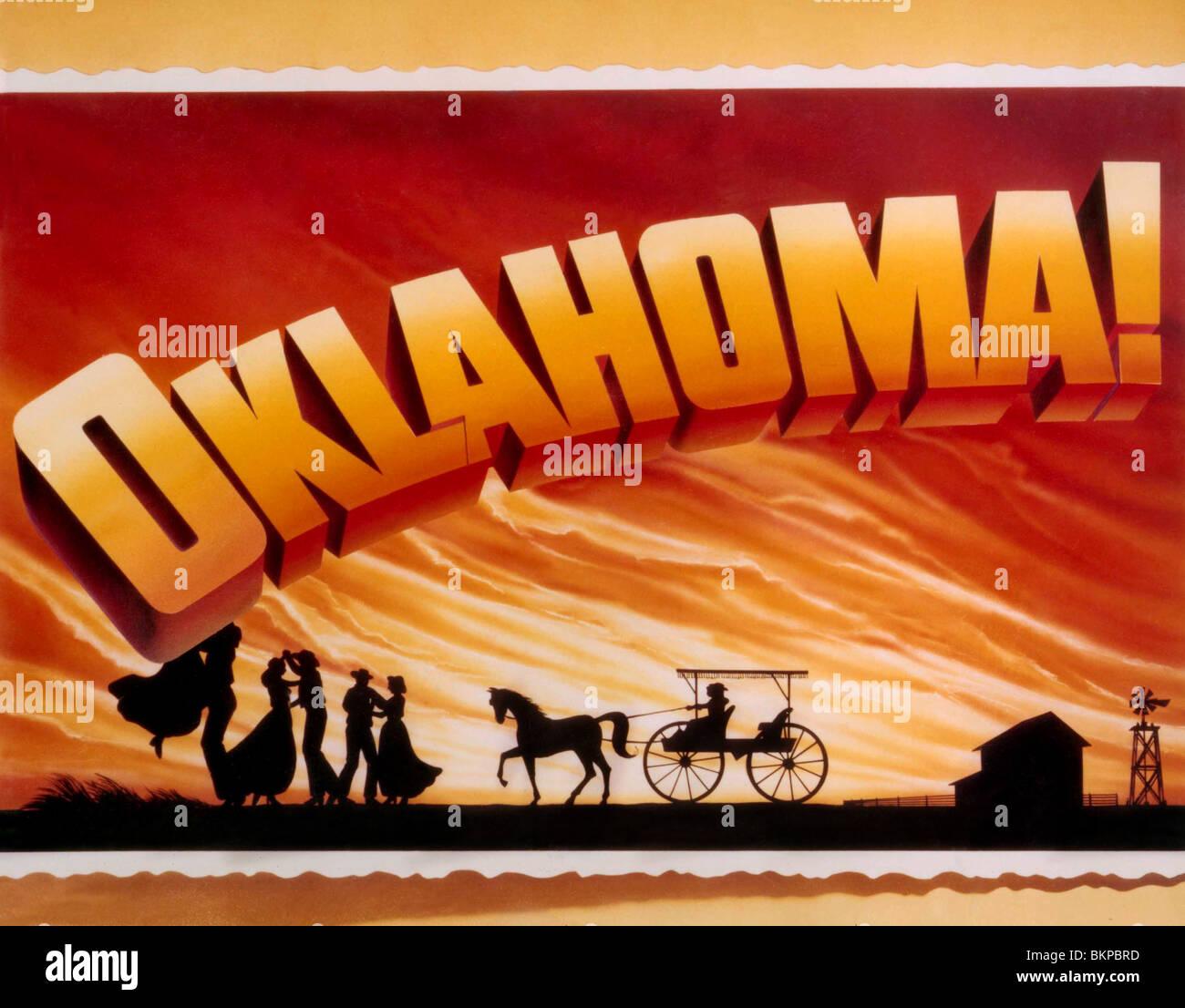 OKLAHOMA-1955 POSTER Stockbild