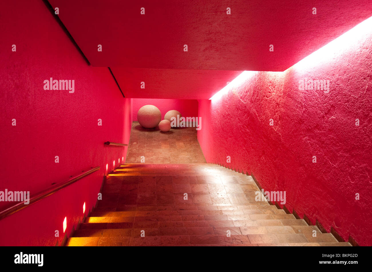 Treppe zum Eingang des Restaurants Las Brisas Hotel Ixtapa/Zihuatanejo Guerrero Mexiko Stockbild