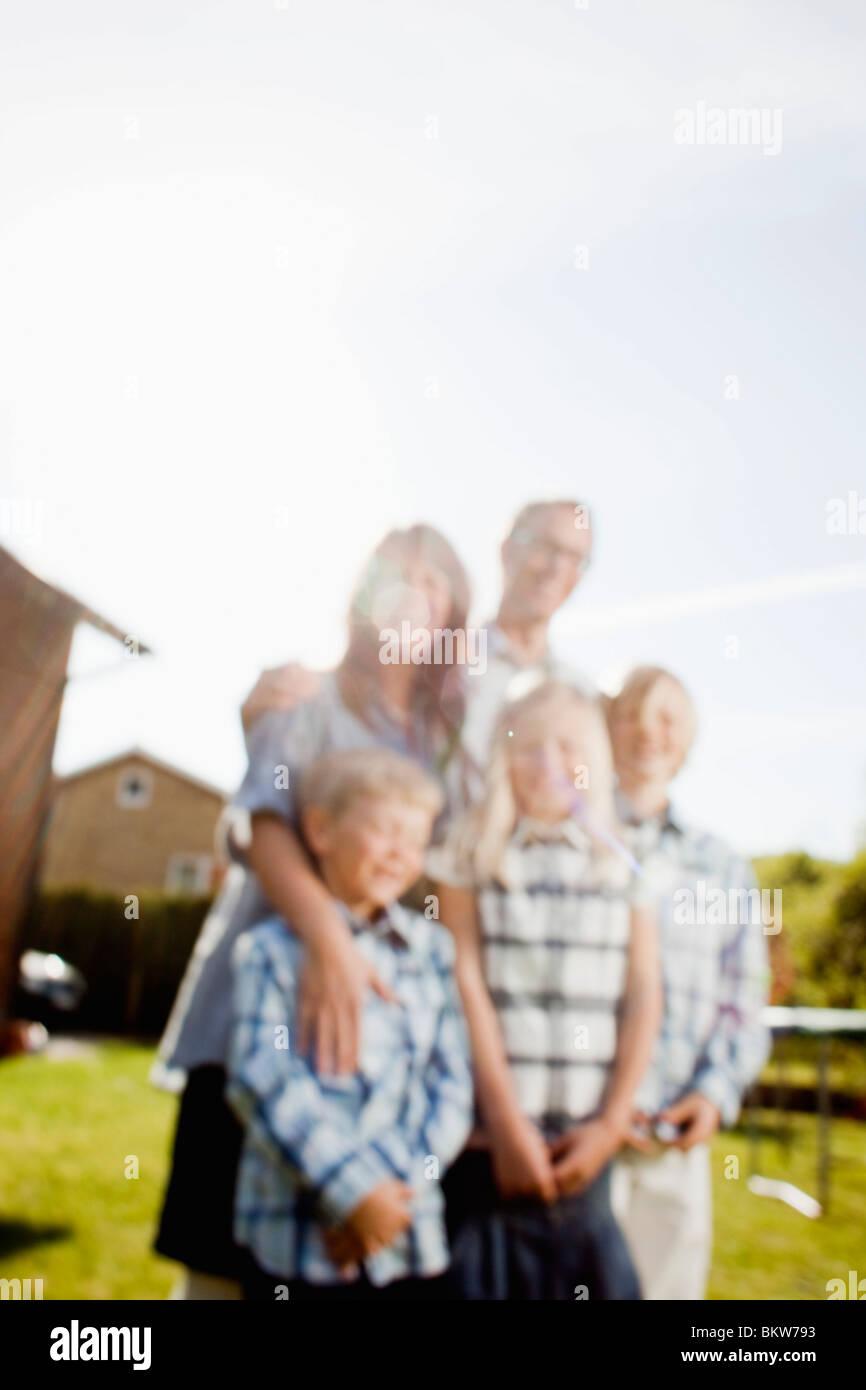 Verschwommen Familie Stockbild