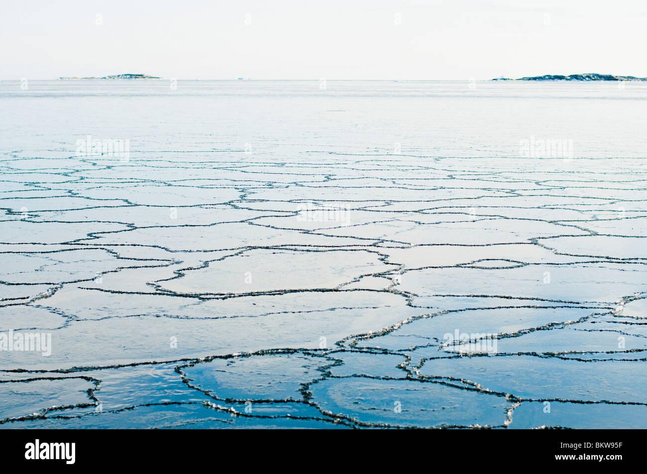 Muster im Eis Stockbild