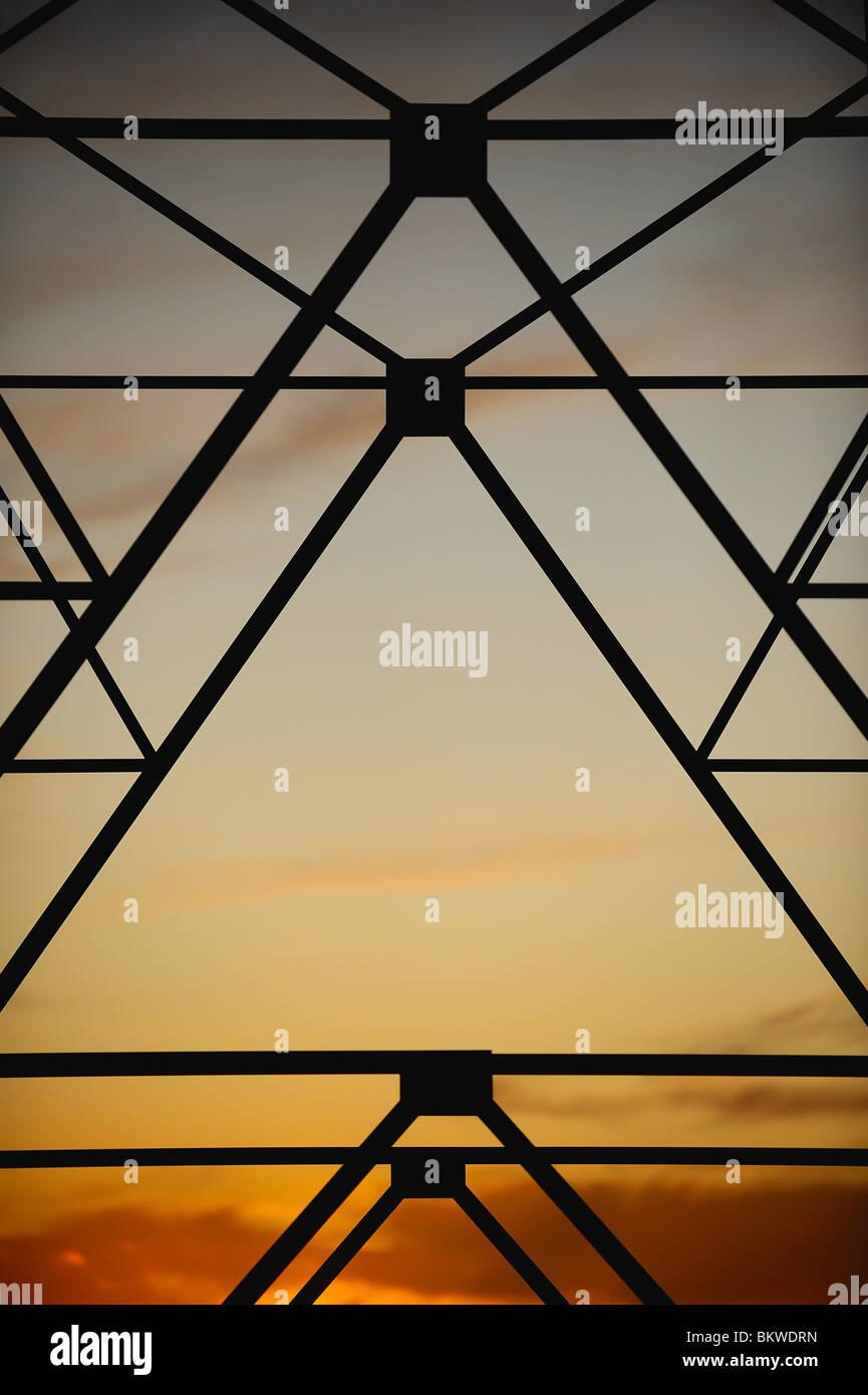 Muster gegen Sonnenuntergang Stockbild