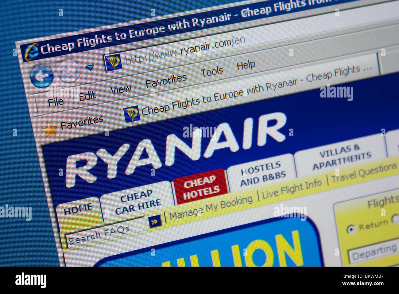 Ryanair billige Reisen Flug Luft Budgethotel Stockbild
