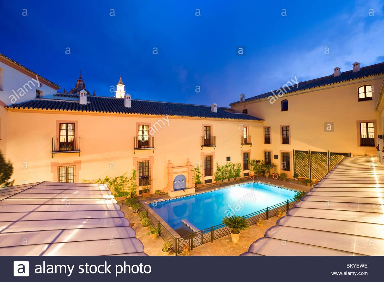 Carmona, preiswerte 4-Sterne-Hotel Alcazar De La Reina in Carmona, Provinz Sevilla, Andalusien, Spanien Stockbild