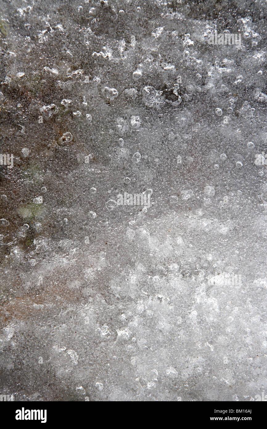 Wasser Eis weiße durchscheinende Textur Stockbild