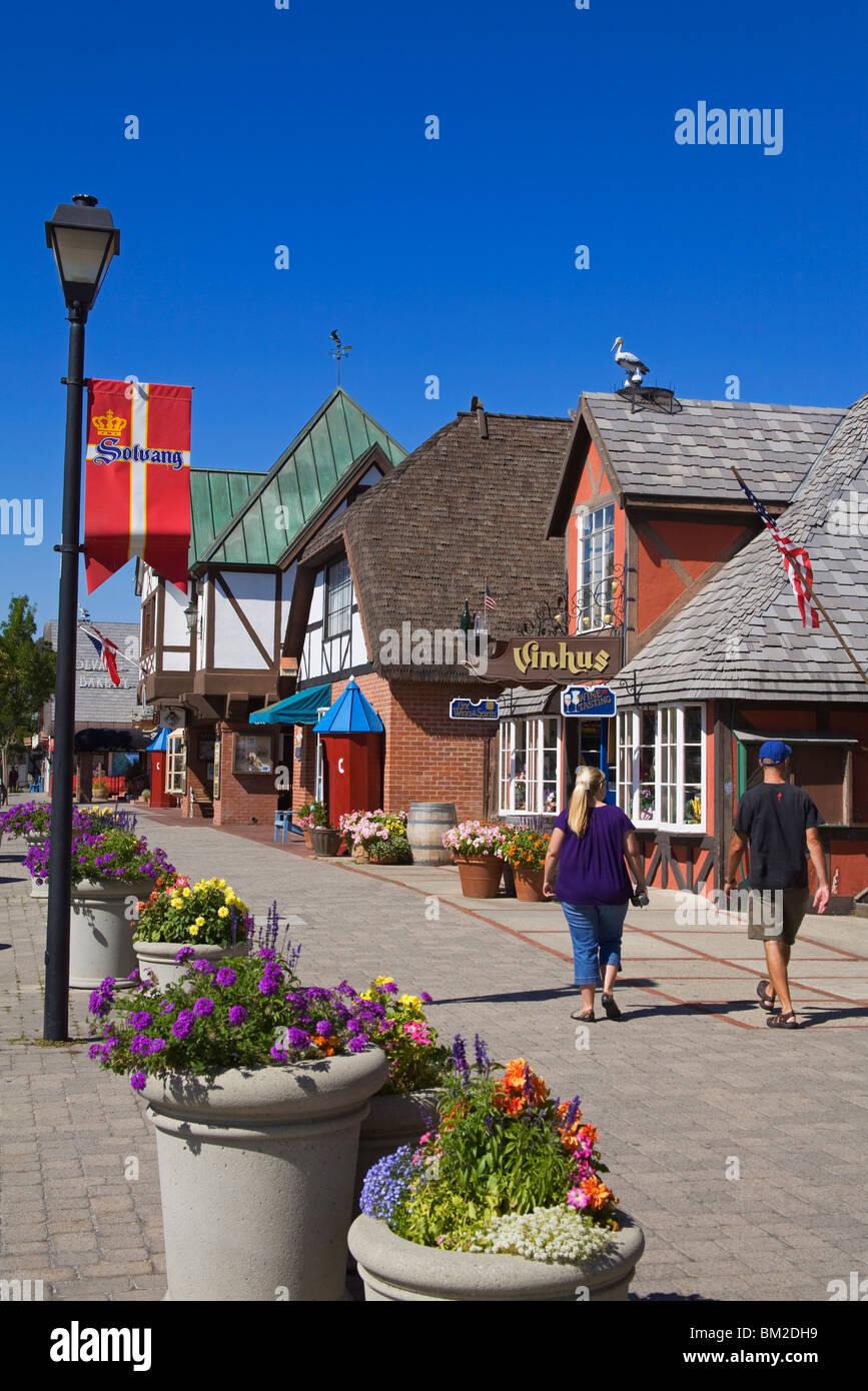 Alisal Road, Solvang, Santa Barbara County, Zentral-Kalifornien, USA Stockbild