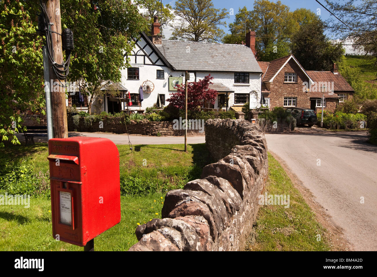 Großbritannien, England, Herefordshire, Carey, Cottage of Content, Dorfkneipe Stockbild
