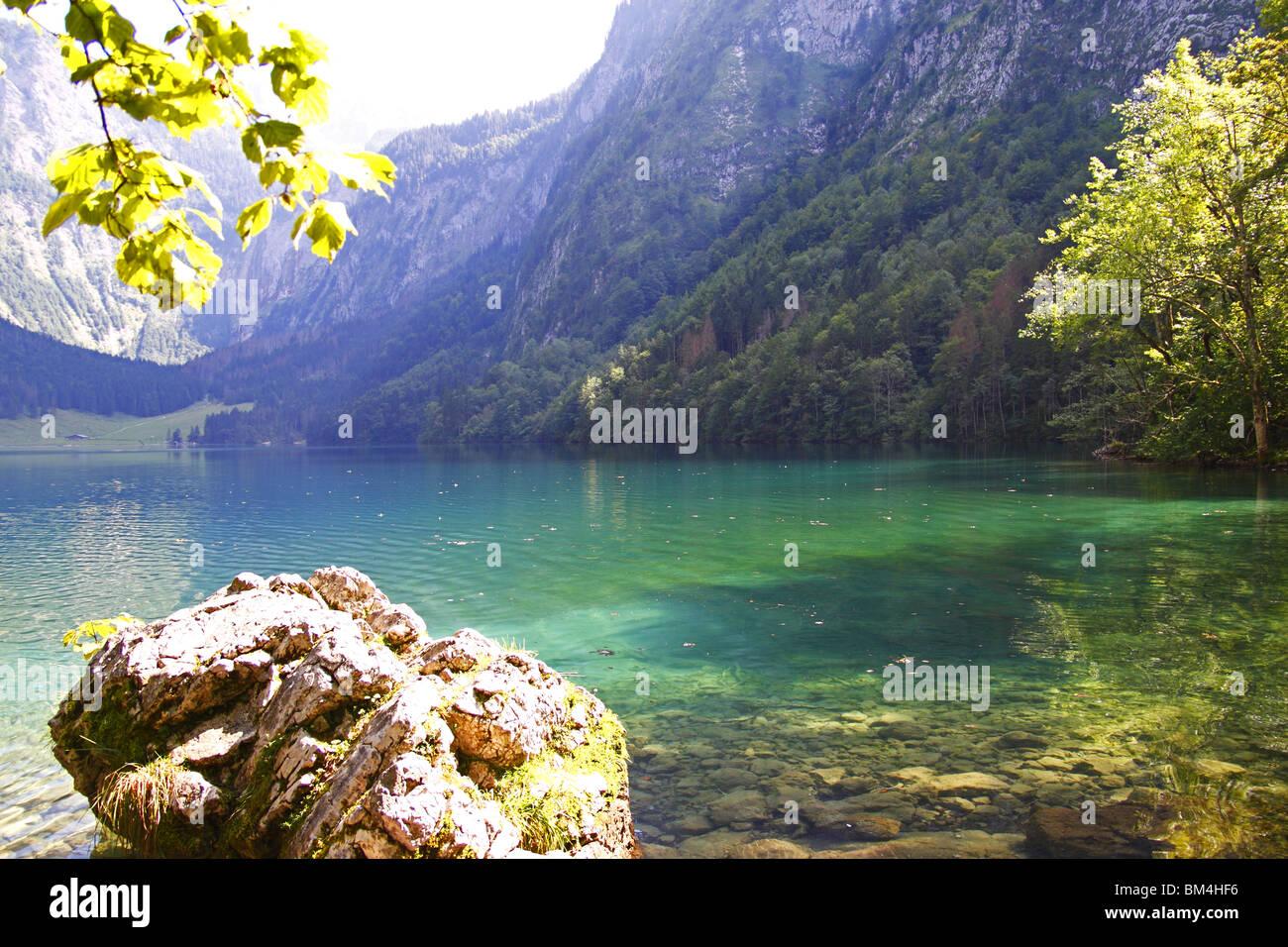 Alpen, Berge, Berchtesgaden, Königssee Stockbild