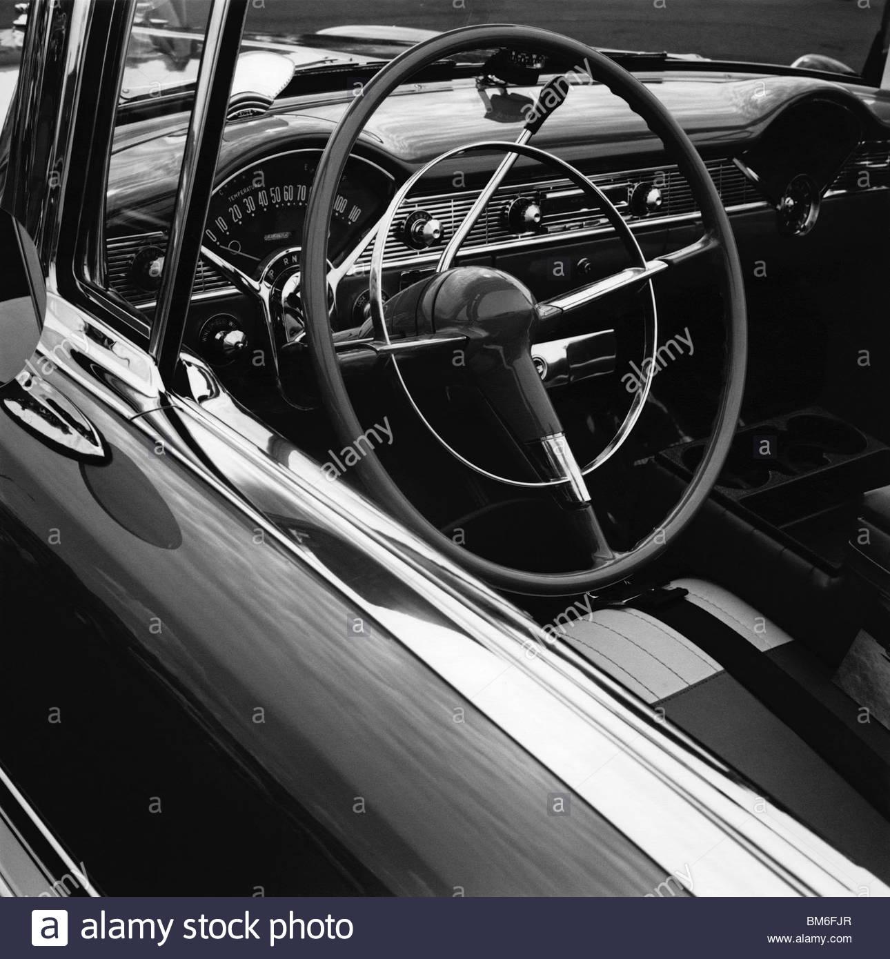 Nahaufnahme eines alten, restaurierten Chevrolet-Auto Stockbild