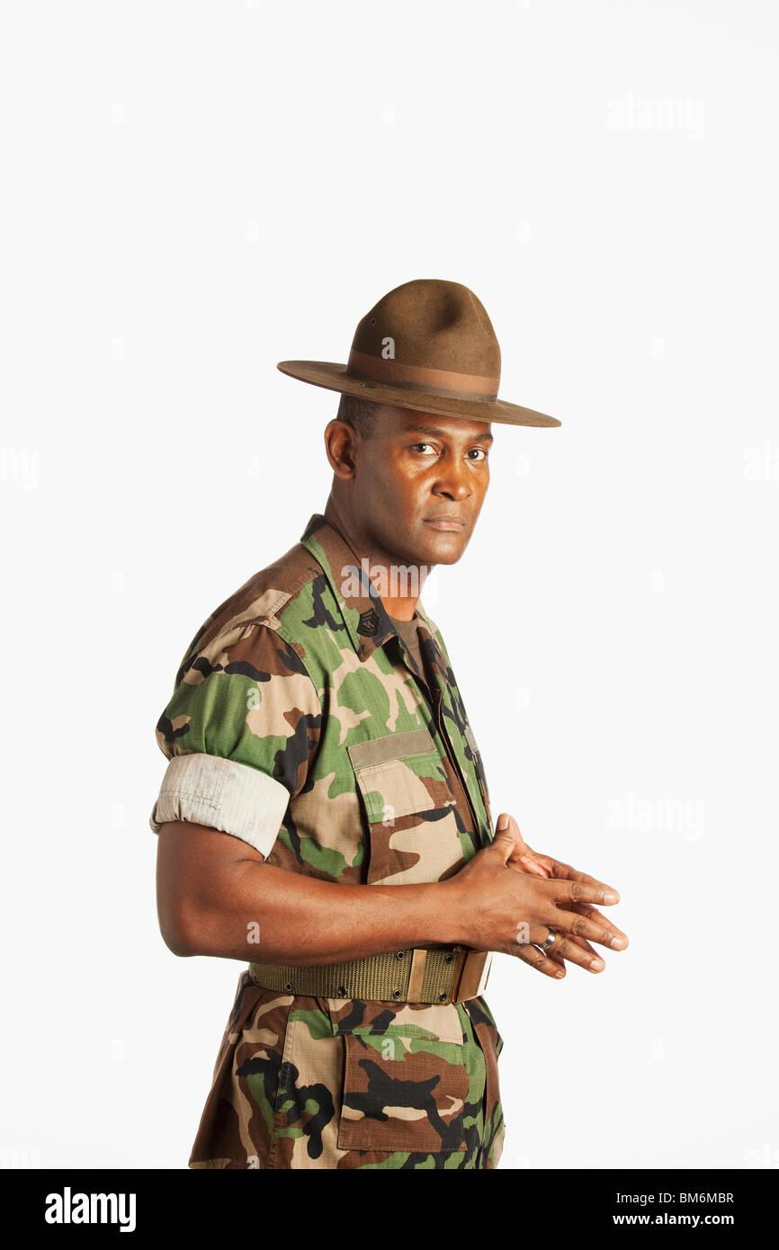 Ein Mann des Militärs Stockbild