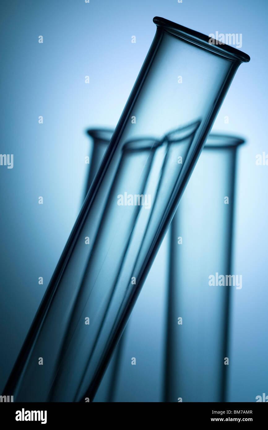 drei Labor Test Tube tops Stockbild