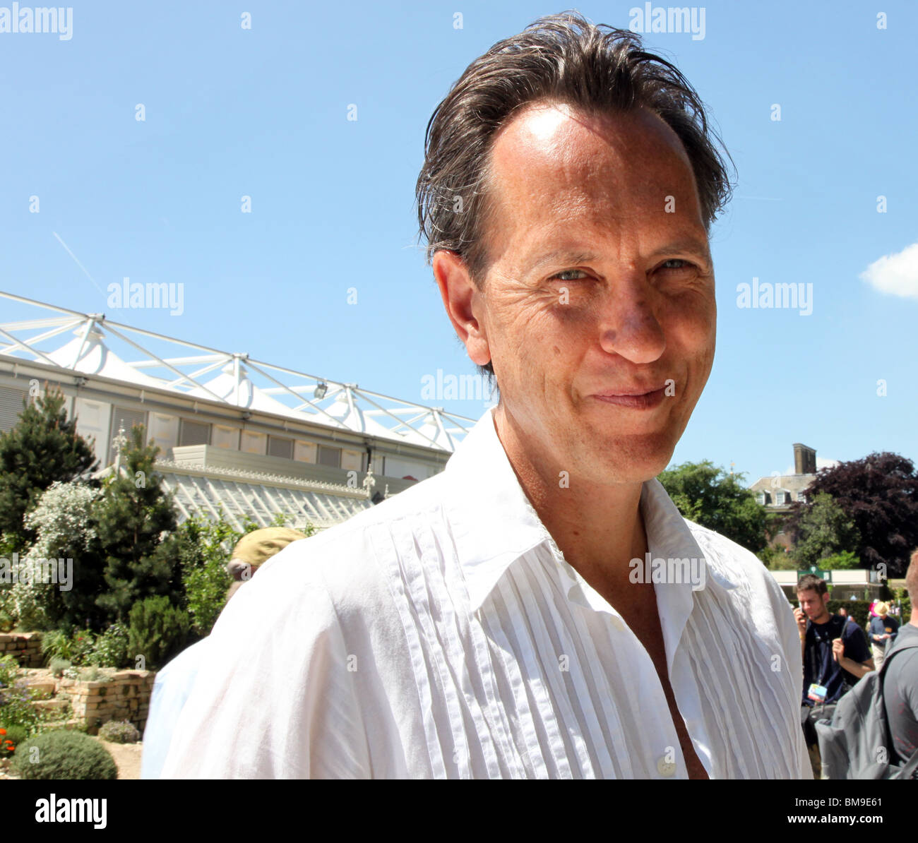 Richard E. Grant Chelsea Flower Show 2010 Stockbild