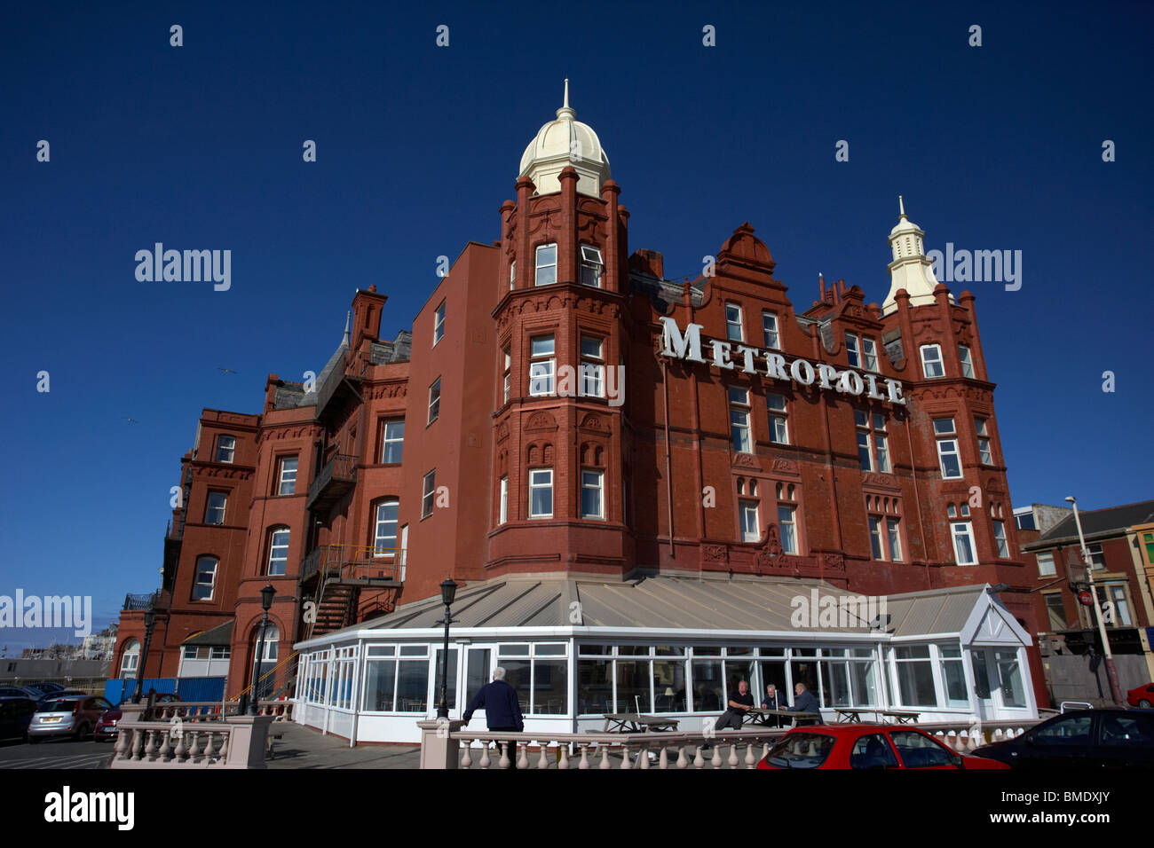 das grand Metropole Hotel Blackpool Promenade Lancashire England uk Stockbild