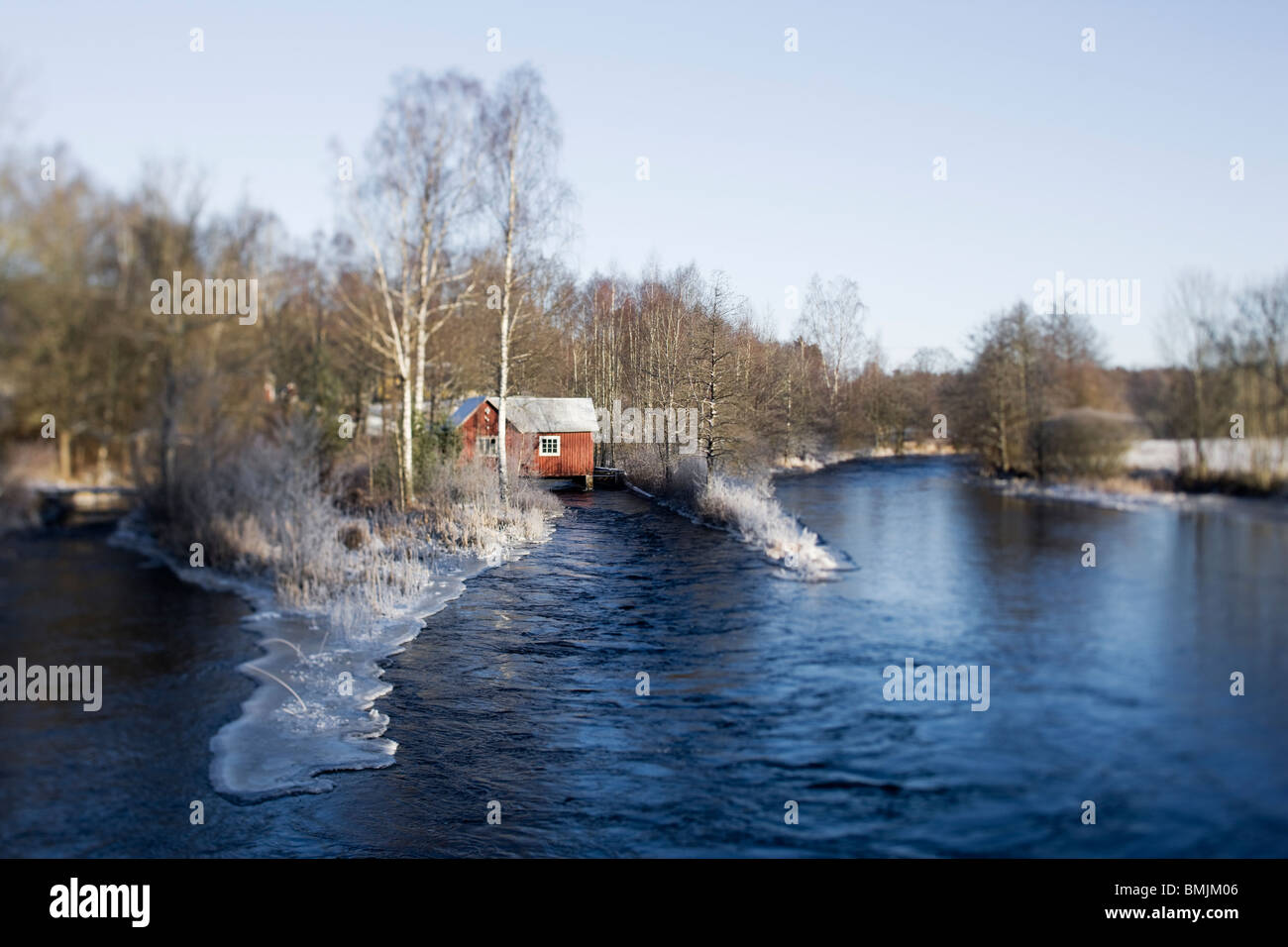 Skandinavien, Schweden, Skane, Blick auf Weiherhaus Stockbild