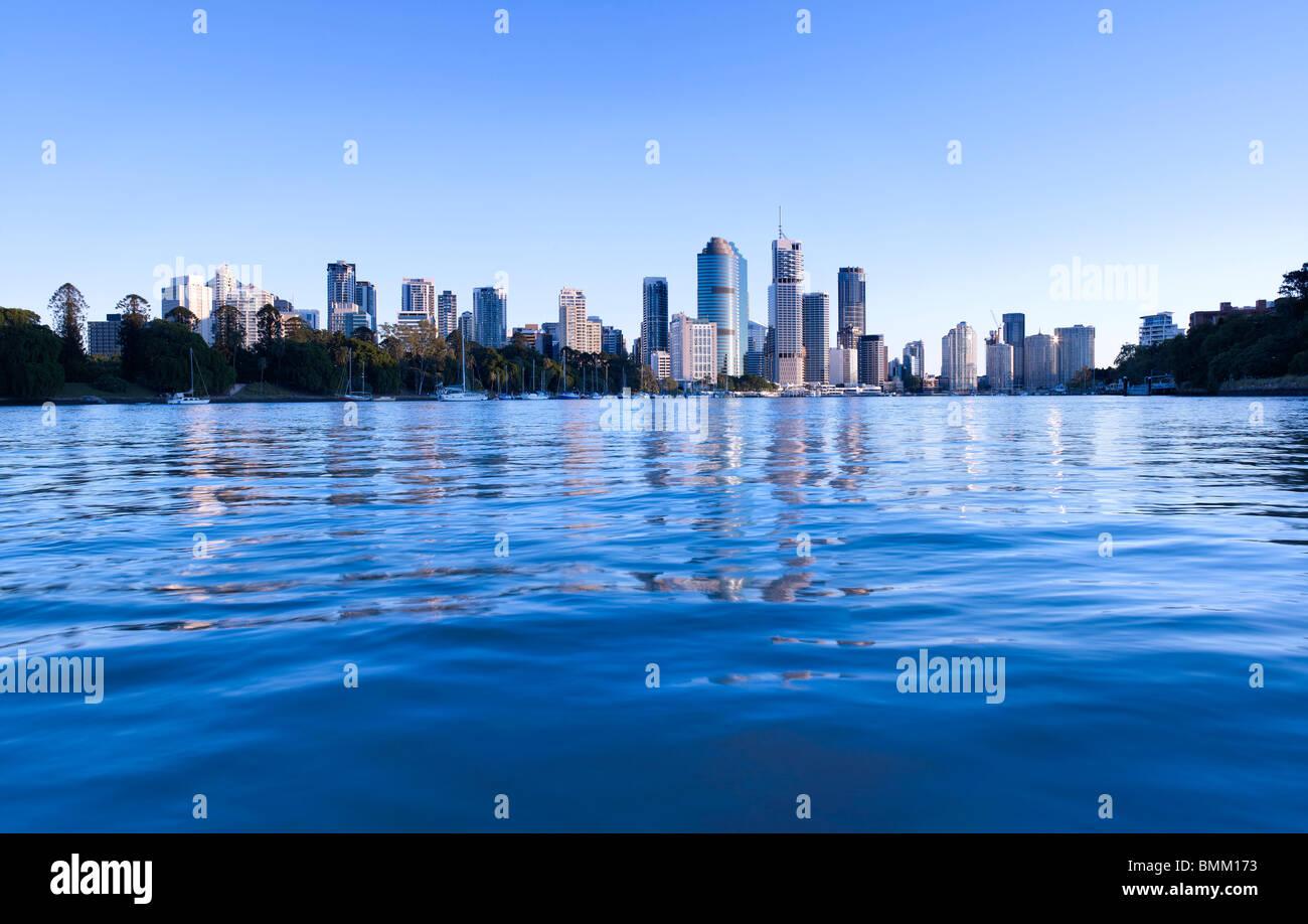 Brisbane Panorama Stadtansicht Stockbild
